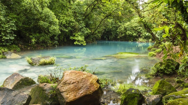 The Blue Lagoon at Rio Celeste