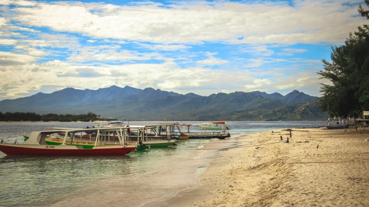 Speed boats are a good way to move around the Gili Islands.