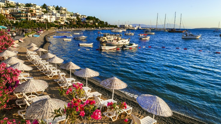Bodrum stretches across the southwest coast to the Aegean sea.