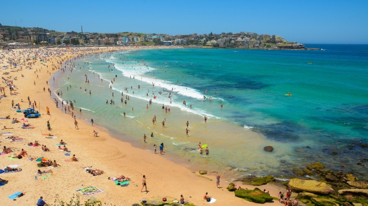Bondi beach for surfing in Sydney