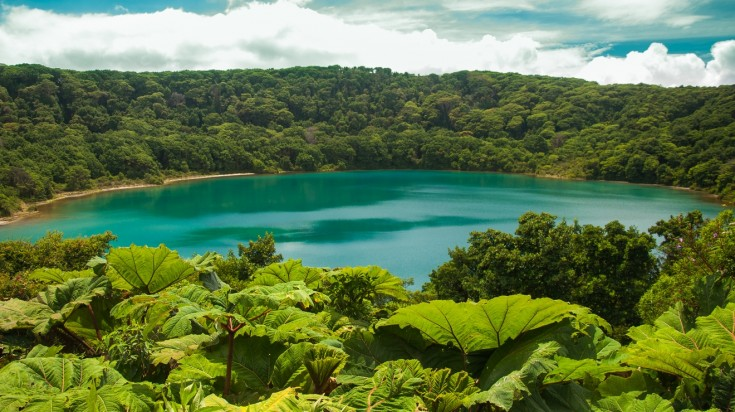 Laguna Botos is located near Poas Volcano in Costa Rica.