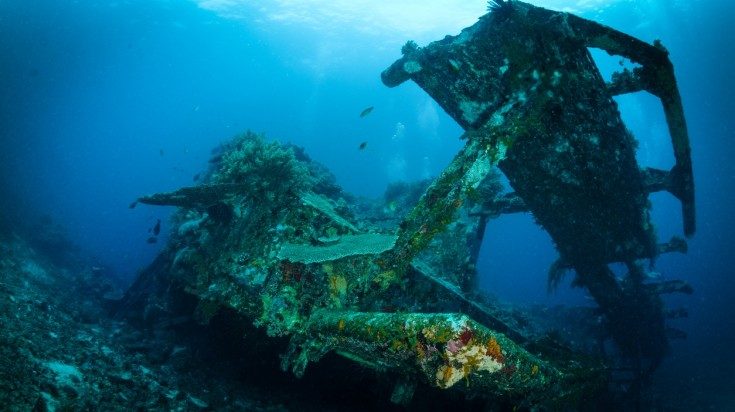 Bountry wreck in Lombok, diving in Indonesia