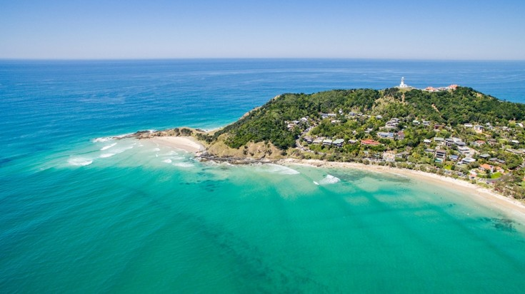 With a dreamy landscape, Byron Bay is a great surf spot in Australia