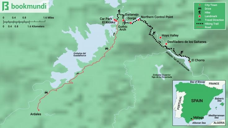 Caminito del Rey Trek Map