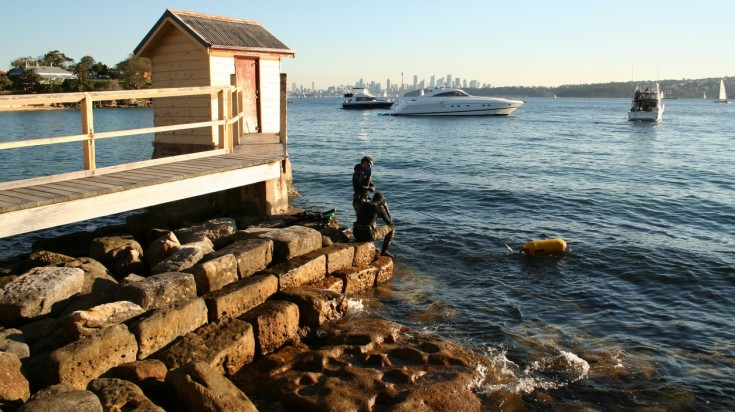 Camp Cove is perfect for beginner diving in Sydney