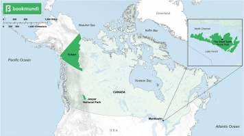 An overview map of Natural Sightseeing destinations in Canada