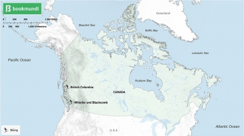 An overview map of snow activities in Canada