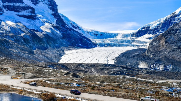 Colombia Icefield in the Canadian Rockies