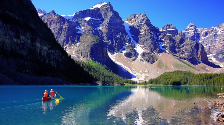 Lake Moraine in the Canadian Rockies