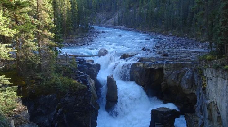 Sunwapta Falls in the Canadian Rockies