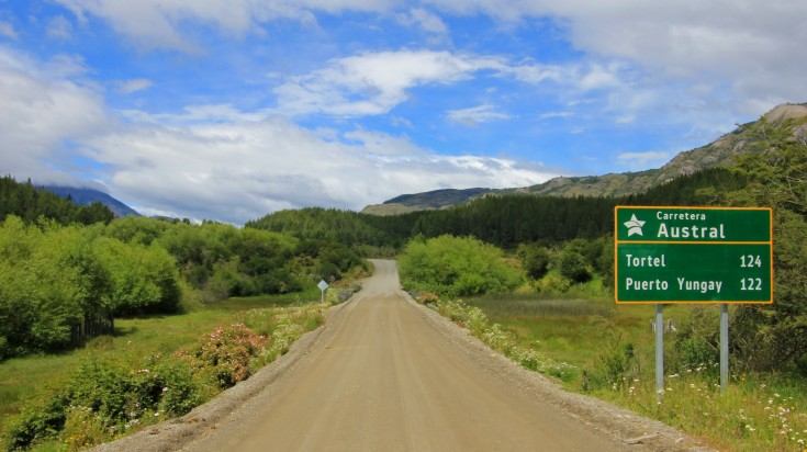 carretera austral in the Aysen Region