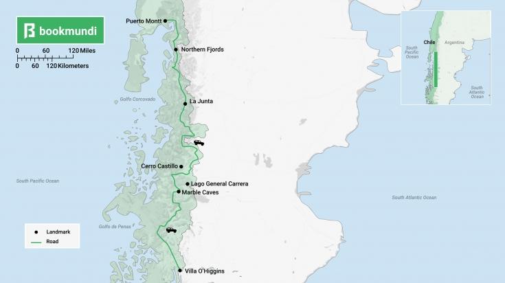 Carretera Austral road trip map
