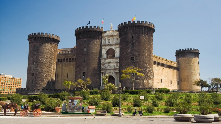 Castel Nuovo is a distinctive architecture and a famous Naples attraction.