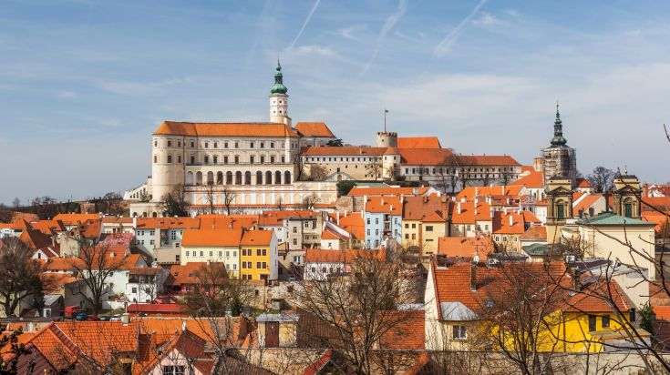 Mikulov and its Castle in South Moravia