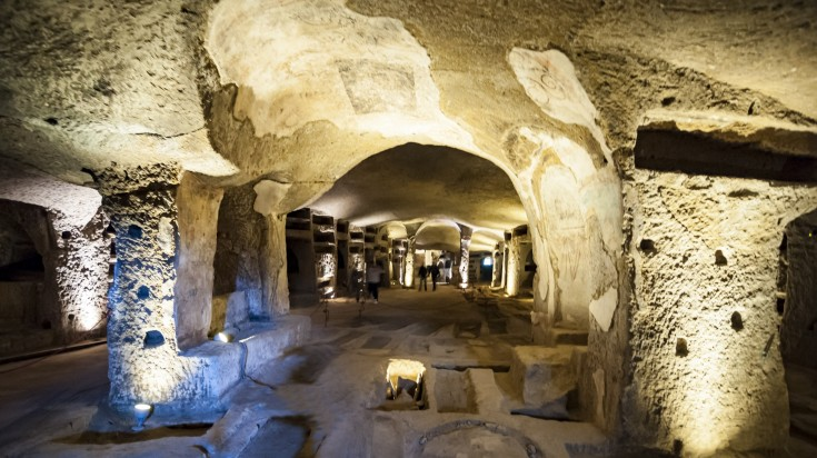The catacombs are home to over 3000 burial sites, including that of San Gennaro, the celebrated patron of Naples.