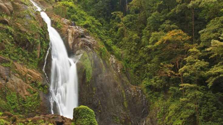 Catarata Bijagual waterfall is located near Jaco beach Costa Rica