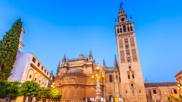 The Seville Cathedral in Spain has stunning architecture.