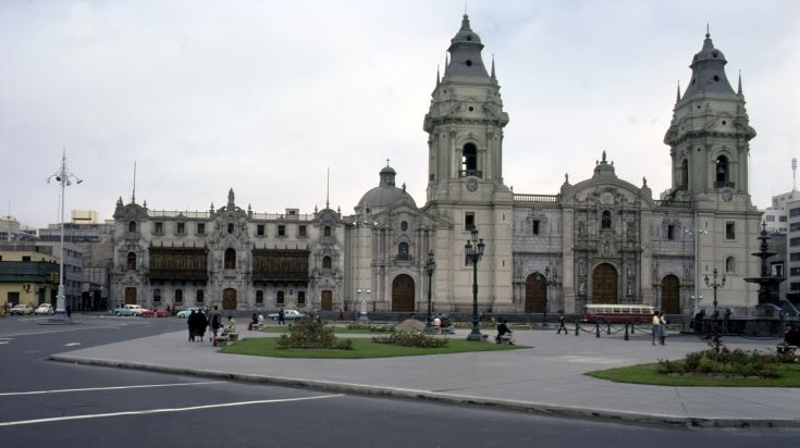 Cathedral of Lima one of Plaza Mayor's grandest and most visited structures