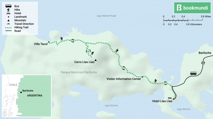 Cerro Llao Llao map