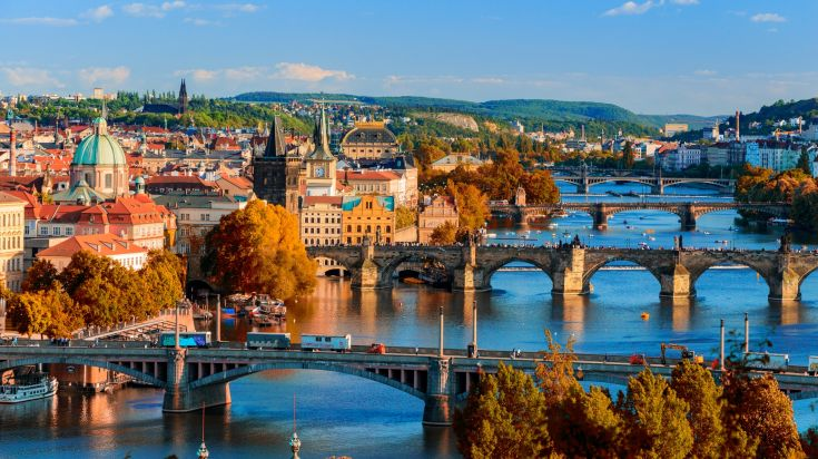 Charles Bridge, the medieval bridge at the heart of the Czech capital