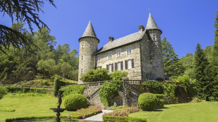 A castle-like Chateau Chamborigaud in Languedoc France