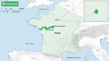 Map for chateaux in France