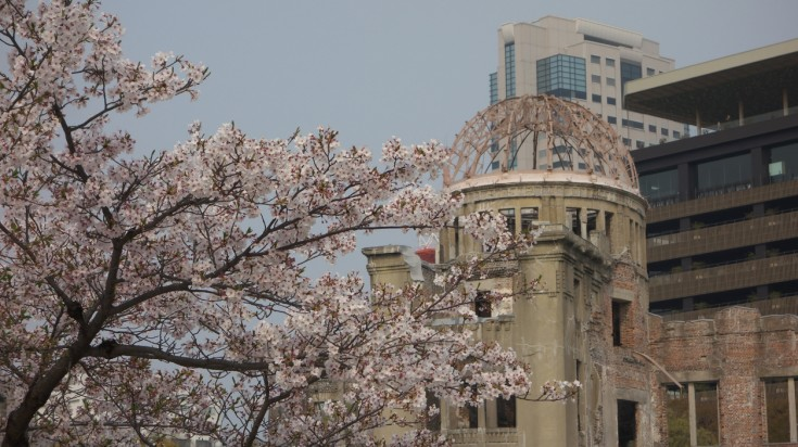 If you're planning to attend the cherry blossom festival in Japan, visit the Peace Memorial Park of Hiroshima.