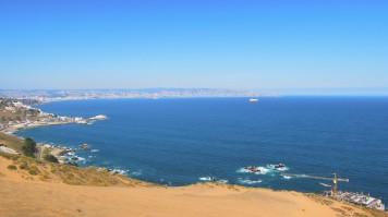 Concon beach in Chile