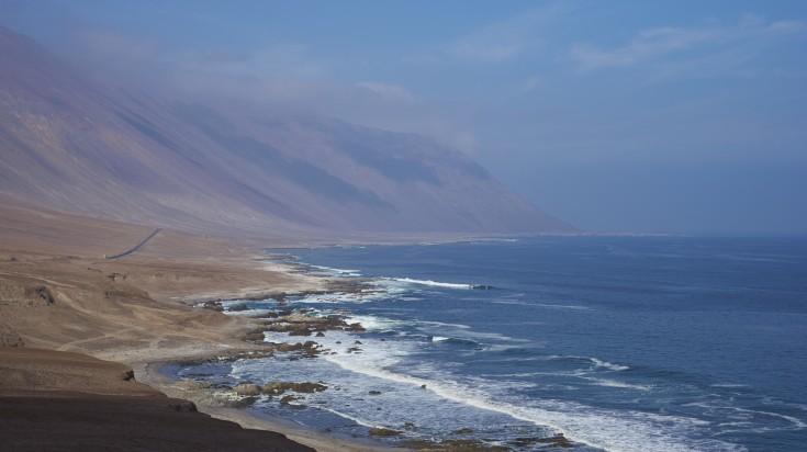 La Caleta beach in Atacama, Chile