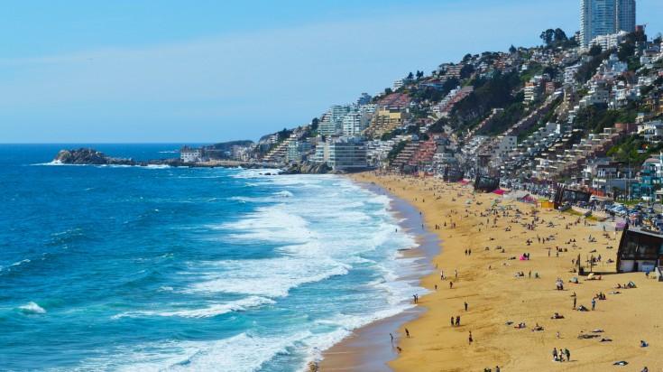 Vina del Mar beach in Chile