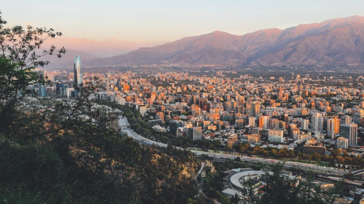View of Santiago from the top of one of its hills