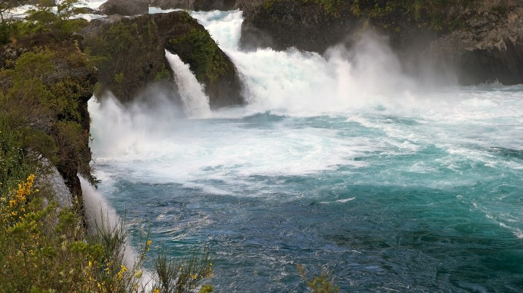 Petrohue Falls in Chile Lake District