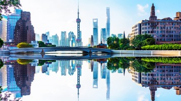 A view of the towers in Pudong, Shanghai included in your China itinerary