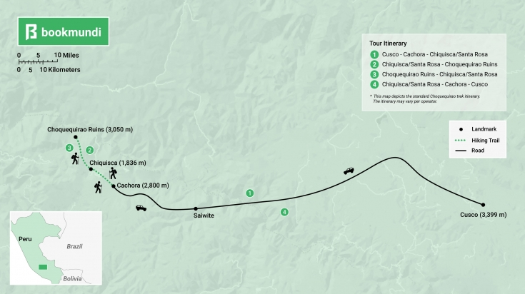 Choquequirao trek map