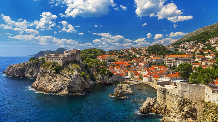 Aerial view of the city of Dubrovnik
