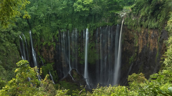 "This ""thousand waterfalls"" is situated in Indonesia's East Java island."