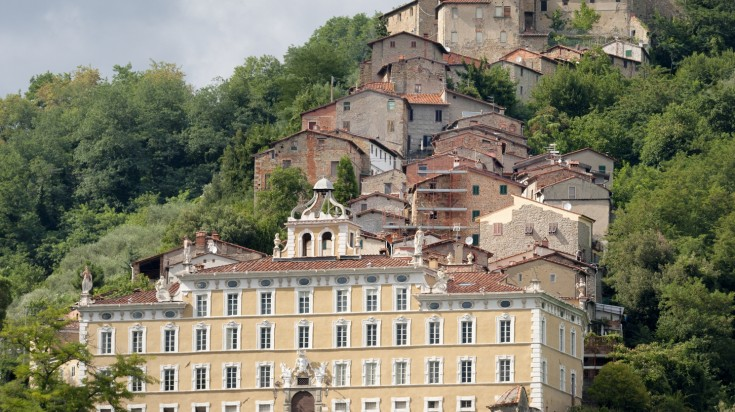 The medieval town of Collodi is named after a famous writer Carlo Collodi.