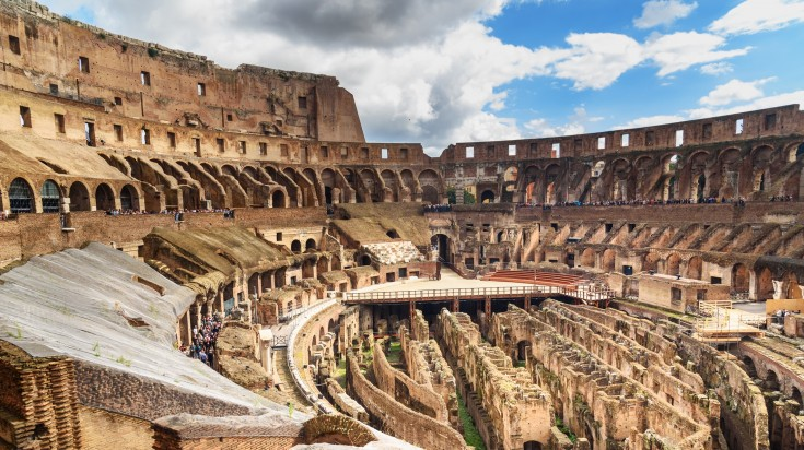 The Belvedere of the Colosseum includes the third, fourth and fifth tiers.