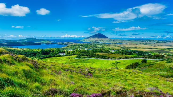 Connemara a mountainous coastal region of Galway