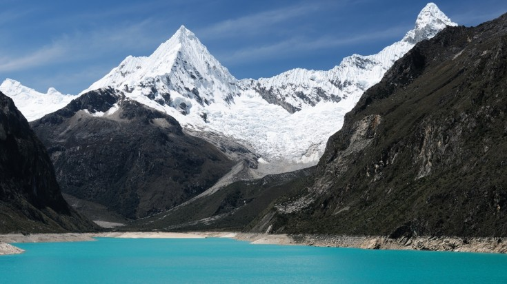 Laguna 69 day hiking trail lies in the Cordillera Blanca mountain range