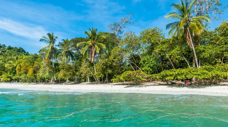 A beach in Manuel Antonio National Park in Costa Rica