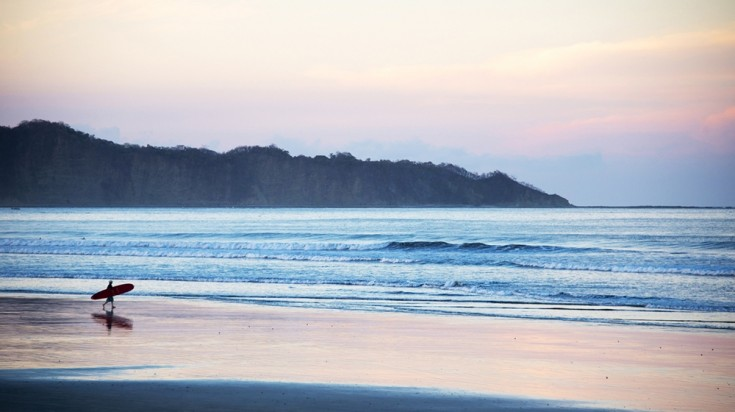 Playa Samara has soft waves perfect for novice surfing in Costa Rica