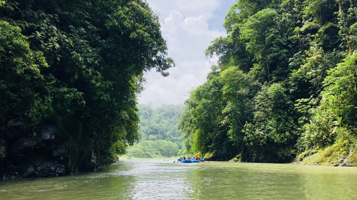 River rafting in Pacuare river in Costa Rica