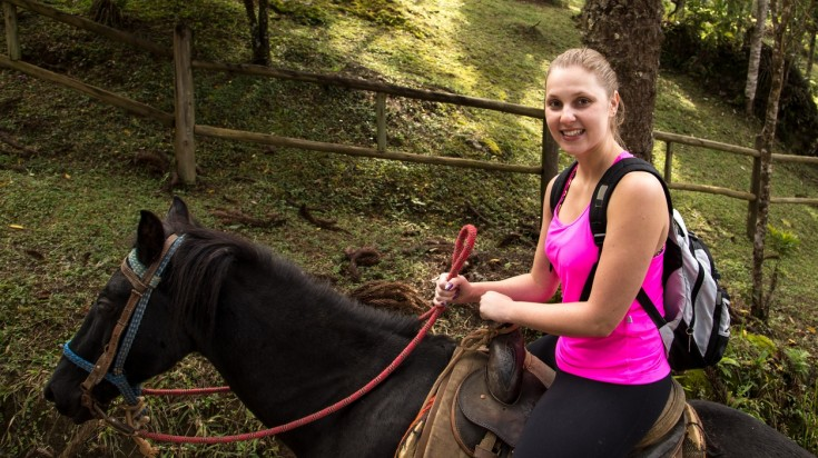 Costa Rica itinerary can include a horseback ride