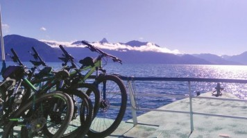 Cycling in Lake District Chile