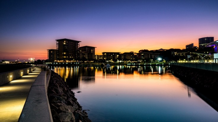 Whether its in the city or near waterways, Darwin has the best sunsets.