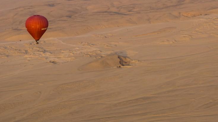 Desert safari in Dubai hot air balloon