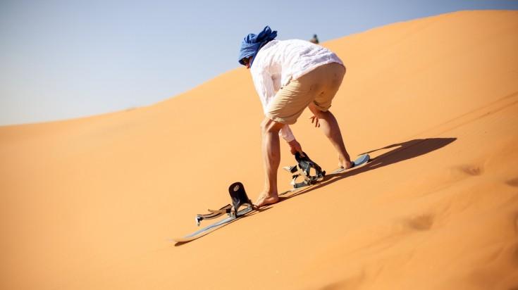Desert safari in Dubai - sand boarding