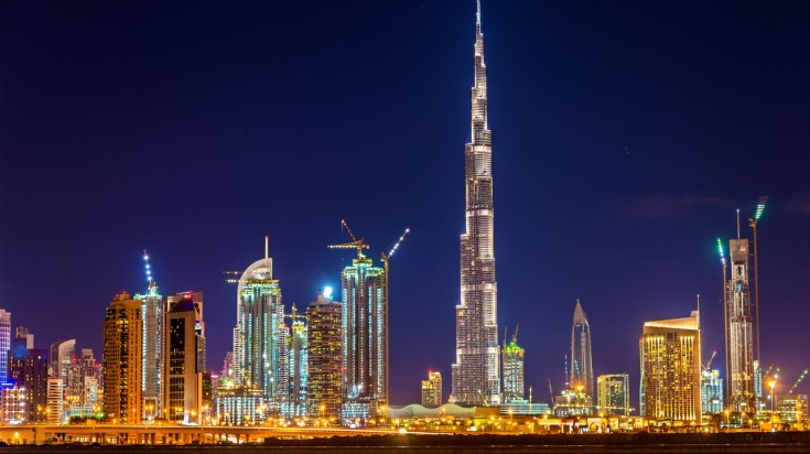 Dhow cruise in Dubai Burj Khalifa