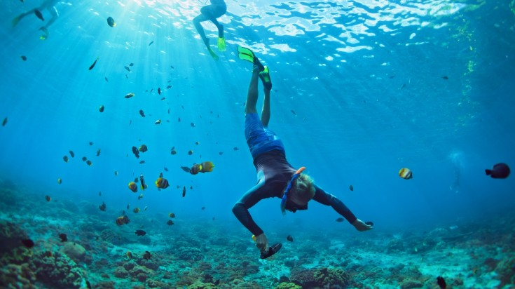 One of the best places to go diving in Bali is the Nusa Lembongan.